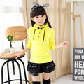 Fall of New Cotton Long Sleeved T-shirt Kids Clothing Korean Version Girls Bow Turtleneck Shirt
