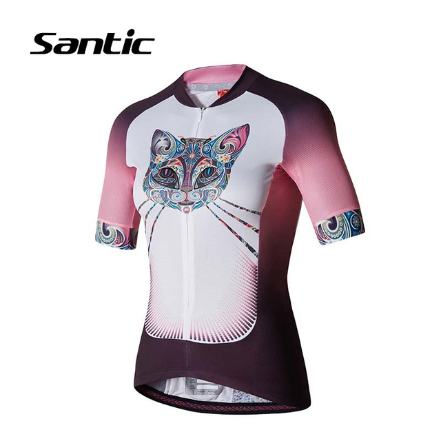 d5195251d Santic Cycling Jersey Summer Short Sleeve Jersey Women Breathable Bike  Jersey Anti-UV Bicycle Tops Shirt Maillot Ciclismo