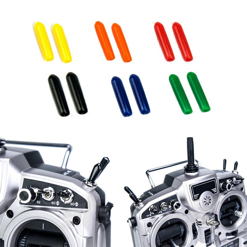 US $2 99 |10 pcs Rubber Transmitter Anti slipping Stick Switch Cap Sheath  for RC FrSky Taranis QX7 Horus Futaba JR Radiolink-in Parts & Accessories