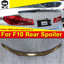 For BMW F10 Series & M5 High Kick Big Trunk Spoiler Wing Carbon fiber M4 style 520i 525i 528i 535i 550i wing rear spoiler 10-16 for bmw f10 carbon fiber cf trunk spoiler wing psm style 5 series 520i 525i 530i 550i high kick big rear wing spoiler 2010 2017