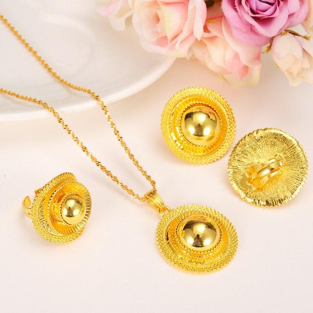Ethiopian Wedding bridal Jewelry sets gold jewelry set Habesha