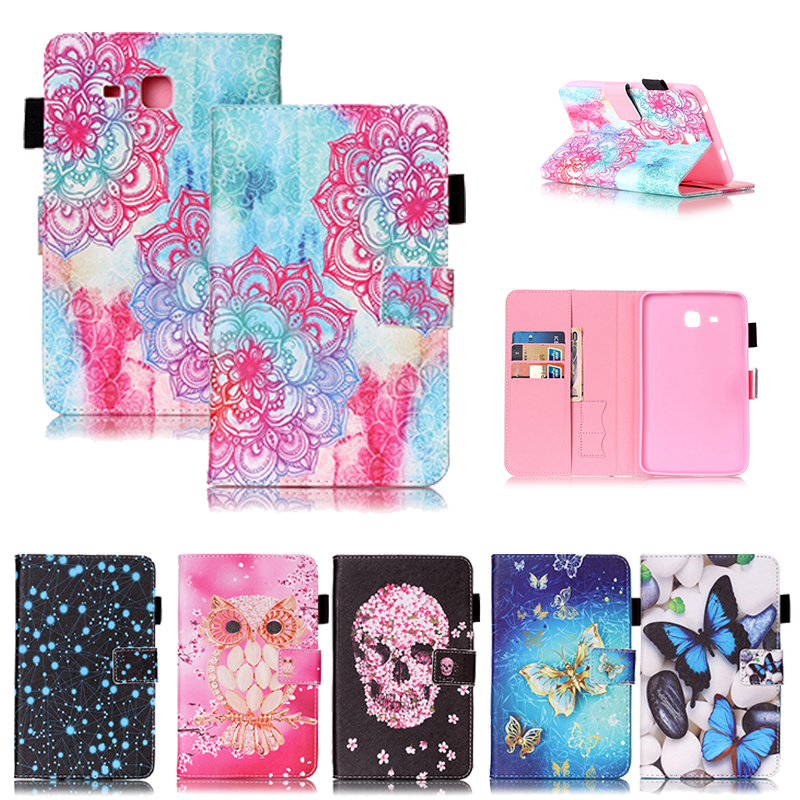 For Samsung Tab A6 7.0 Inch Case Cute Painted PU Leather For Samsung Galaxy Tab A 7.0 T280 T285 Cover Tablet Silicone Funda