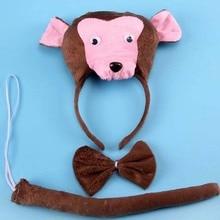 Animal Monkey 3D Headband Kids Childrens Halloween Fancy Dress Decor