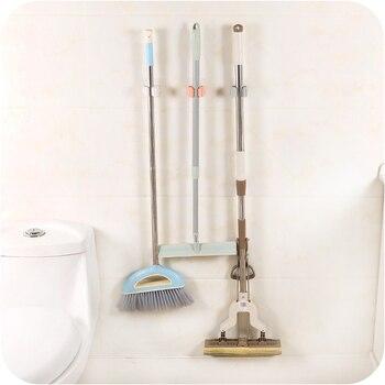 Dropship Mop Hooks Traceless Bathroom Mop Hook Broom Shelf Mop Clamp Bathroom Hooks Bathroom Holder Shower Hooks 4