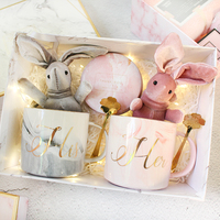 1set lot Unique Ceramic Cup set Wedding Proposal Party Bride Bridesmaid gift Boy Girl Birthday Valentine's Day gifts