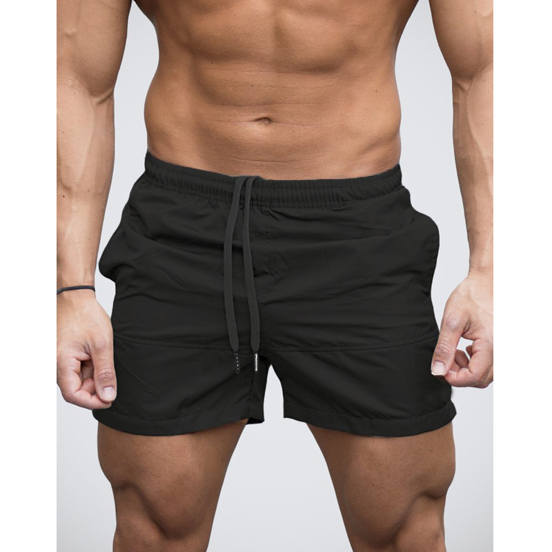 Mens Shorts Bermuda Fast Dry Elastic Waist Joggers Workouts Gyms Fitness Fashion Vacation Style Beach 2018 Hot Sale Boardshorts