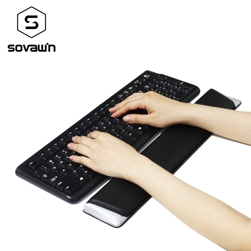 Sovawin Leather Keyboard Wrist Rest Pad Gamer PC Handguard