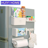 Refrigerator Shelves 5pcs/set Combination Shelves For Fridge Multi Purpose Magnet Shelf For Fridge Plastic Storage Rack EGN157