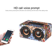 Buy M5 Portable HiFi Wireless Bluetooth Portable Speaker Wooden Bass Altavoz TF FM Radio Caixa De Som Soundbar with MIC for Phone PC directly from merchant!