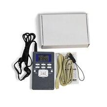 Digital Receptor de Rádio FM Mini Speaker Embutido Antena Portátil Dual Channel Única Banda Kit Display Lcd Leitor de Música