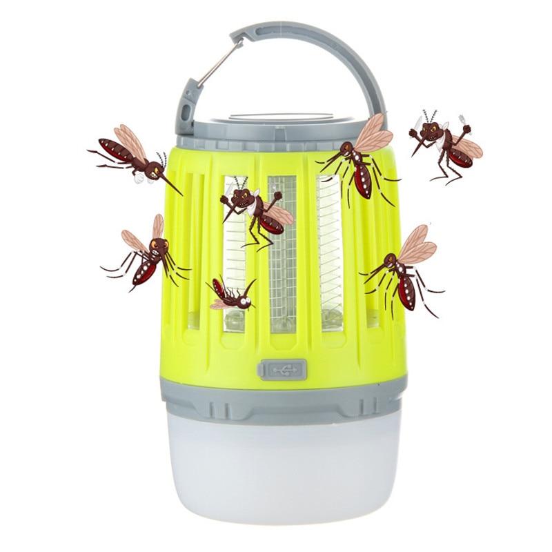 USB Charging Mosquito Killer Trap LED Night Light Lamp Bug Insect Lights Killing Pest Repeller  Camping Light