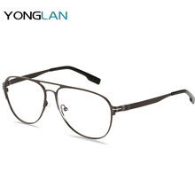 Yong Lan High Quality Optical Glasses Myopia Alloy Frame large Size Design Eyewear Clear Lens Gafas
