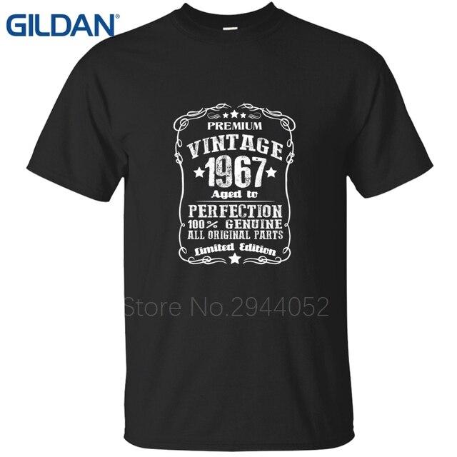 Tshirt Black Mens 50th Birthday 1966 Gag Gift Present Dad Husband Old Fart Shirts Size S