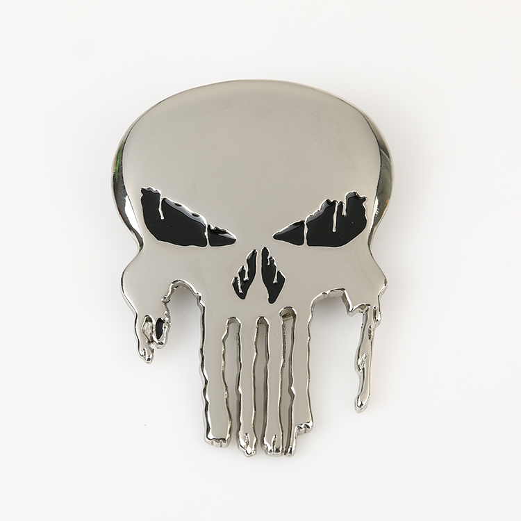 Silver Punisher Superhero Belt Buckle