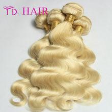 New Arrival Brazilian Virgin Human Hair Body Wave 613 Blonde Brazilian Hair Weave Bundles Unprocessed Virgin  Brazilian Hair