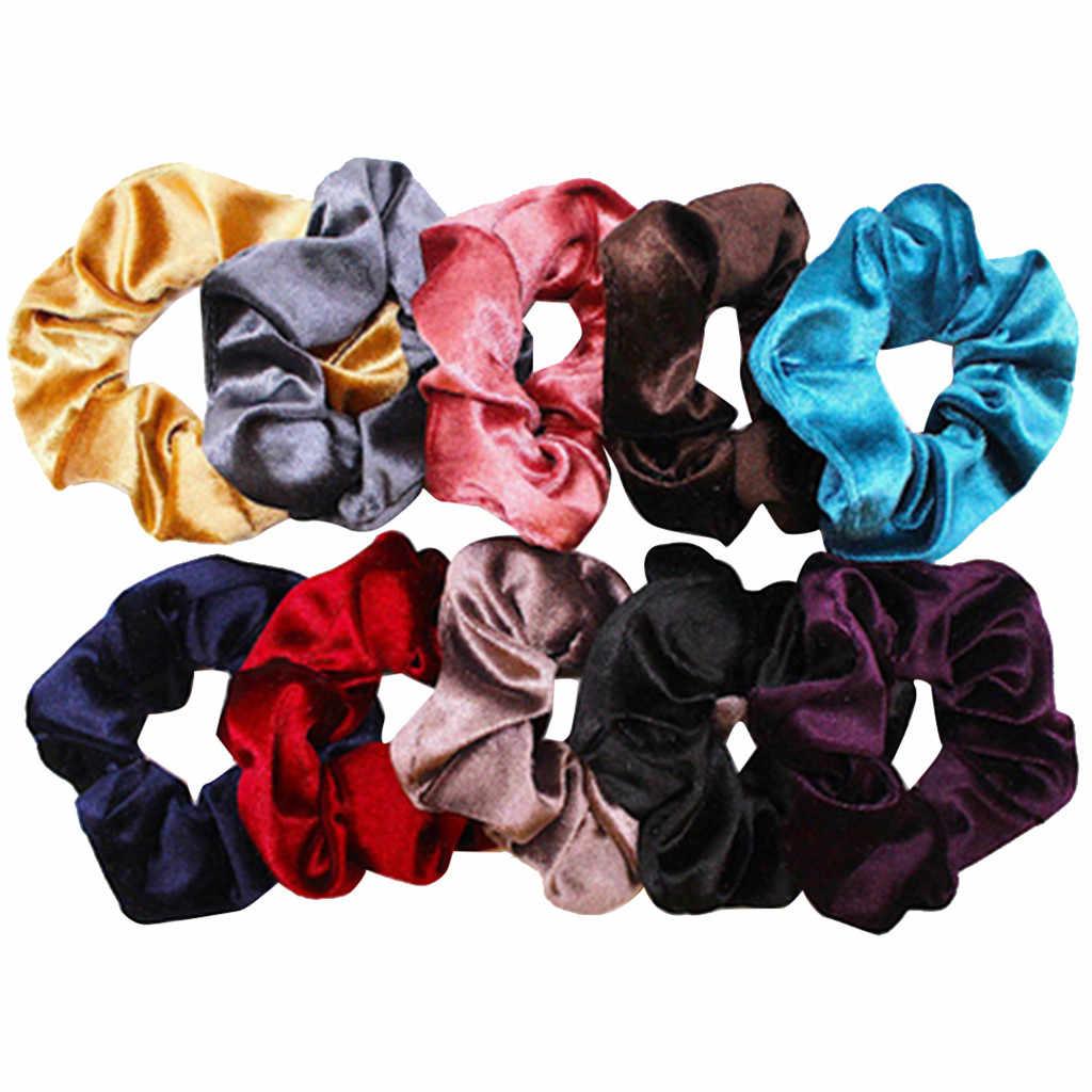 10 шт., бархатные резинки для волос, цветные резинки для волос, 10 цветов, резинки для волос из шифона, цветные резинки для волос