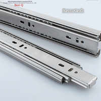 Free shipping Drawer track, drawer slide, three rail drawer, guide rail, slide rail, furniture hardware fittings, slipway