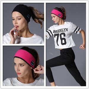 Image 3 - אלחוטי Bluetooth אוזניות שינה יוגה סרט כובע רך חם ספורט כובע חכם חכם רמקול סטריאו צעיף אוזניות עם מיקרופון