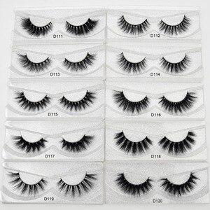 Image 5 - 100 pairs Wholesale Free DHL Shipping Visofree 3D Mink Lashes Hand Made Full Strip Mink Eyelashes Cruelty free False Eyelashes