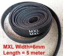 "whole sale 5 meter MXL open Timing belt Pitch 0.08""(2.032mm) Neoprene width 6mm MXL Timing belt pulley free shipping"