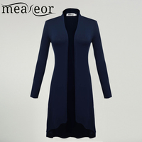 Meaneor Women Long Sleeve Cardigan Women Front Solid Cardigan Women Long Cardigan Coat