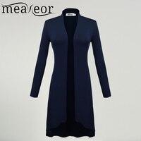 Meaneor Women Long Sleeve Cardigan Women Front Solid Cardigan Women Long Cardigan Coat