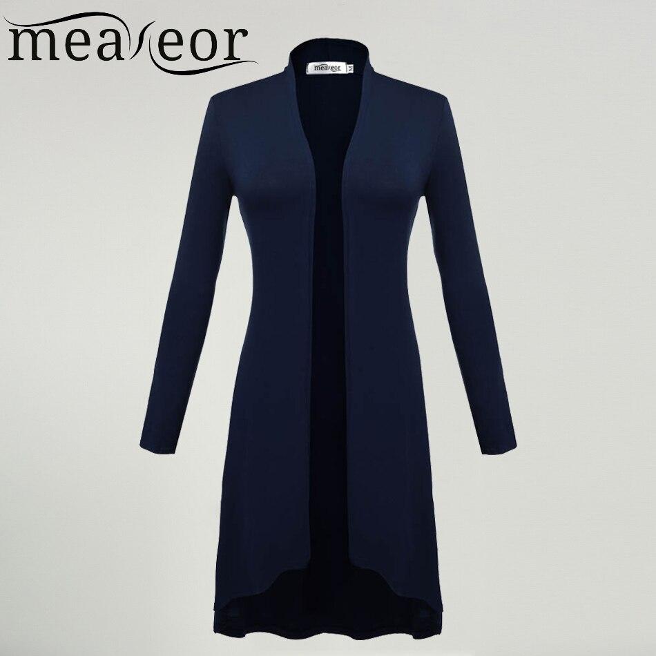 Meaneor Cardigans Women Ms Windbreaker 2017 Autumn Summer Long Sleeve Cardigan Long Joker Plus size 3XL Sweaters Coat Outwear