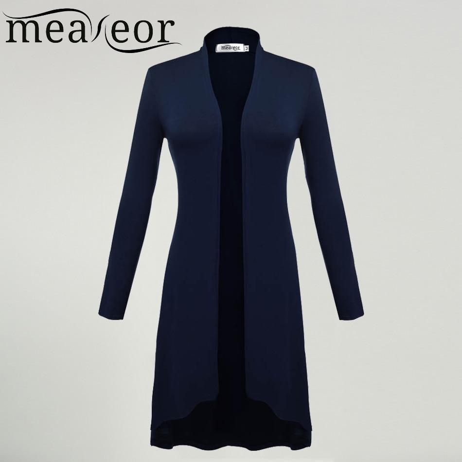 Meaneor kardigánok nők Ms Windbreaker 2018 őszi nyári hosszú ujjú kardigán hosszú Joker Plus méret 3XL pulóverek kabátruházat