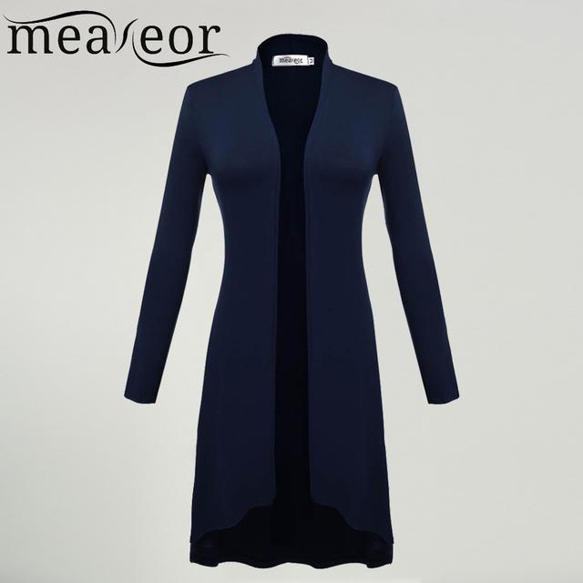 Mulheres cardigan blusão ms meaneor 2017-2017 outono inverno manga comprida cardigan longo coringa casaco outwear para as mulheres mais tamanho