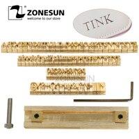 ZONESUN T слот приспособление 52 букв алфавита 10 цифр 20 символ печать для кожи тяга инструмент бренд Железная машина плесень высечки