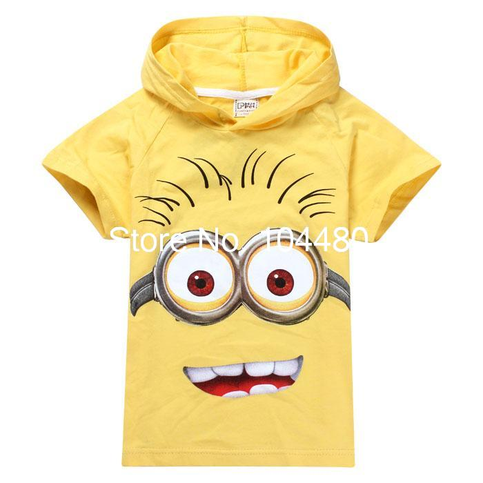 new summer 2014 despicable me 2 minions boys t shirt short. Black Bedroom Furniture Sets. Home Design Ideas