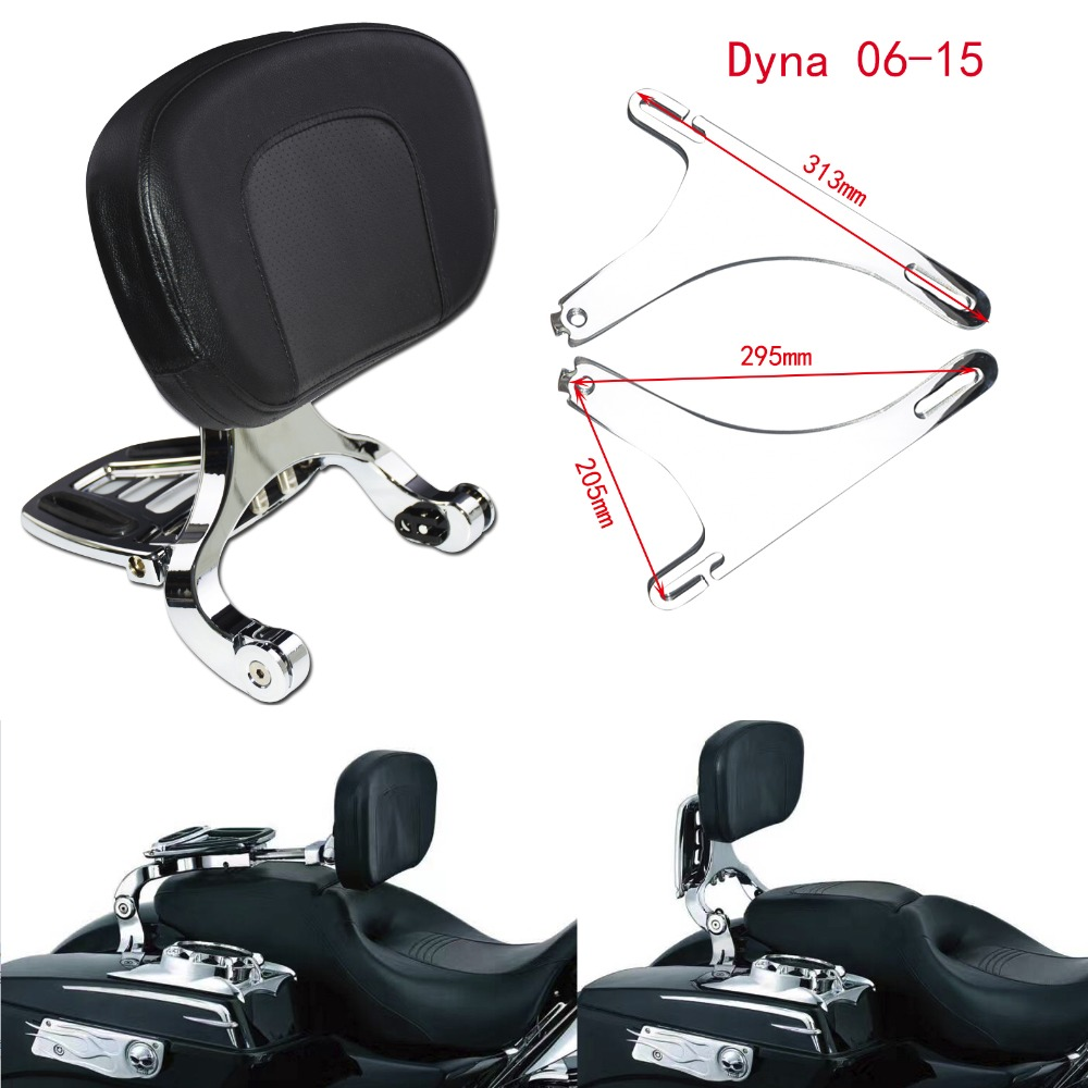 Регулируемая пассажирская и спинка водительского сиденья хромированный сишистый бар и черное сиденье для Harley Softail Breakout 13 17 FLSTC 00 17 Touring 09 17