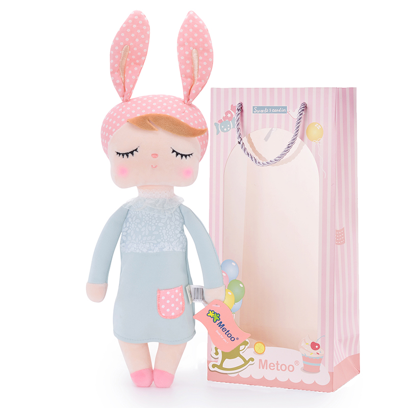 "METOO Rabbit Angela Dolls Girl Wear Skirt Plush Toys Stuffed Gift Toys for Kids Girl Bunny Dolls12*4"" for Gifts"