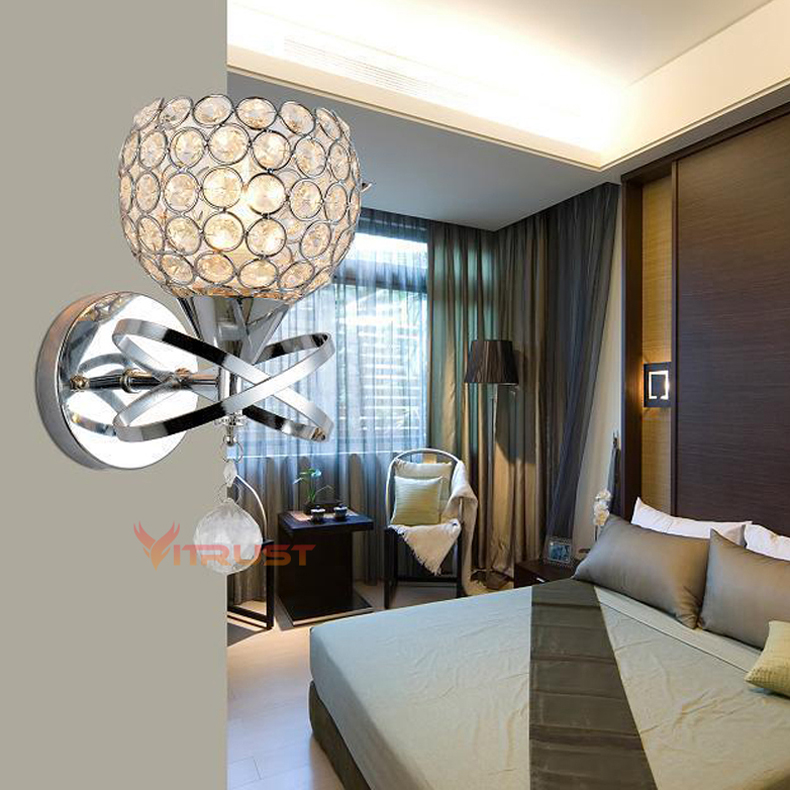 Modern Wall Light For Bathroom: Classic Classic Wall Lamp Luxury Modern Crystal Wall