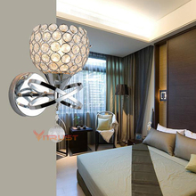 Classic Wall Lamp Luxury Modern Crystal Lighting Sconce E27 Light for Bathroom Bed Dining Room Study