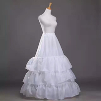 Free Shipping High Quality White Petticoat Crinoline Underskirt 3 Layers For Wedding Dresses Bridal Gowns In