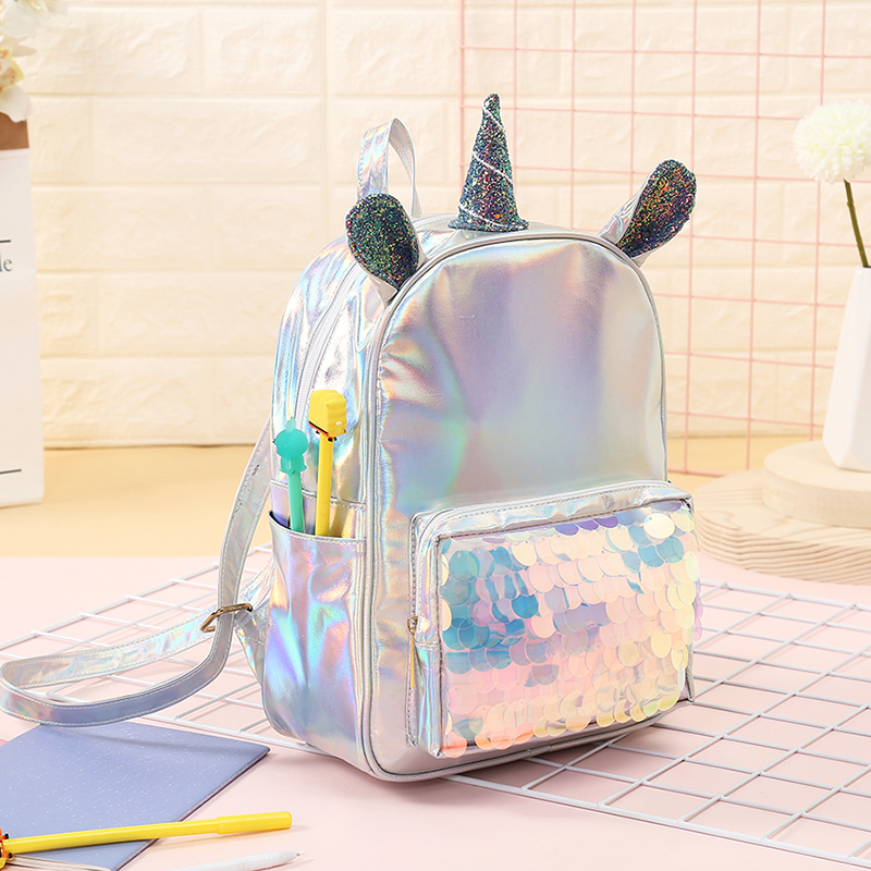 Mochila unicornio holográfica 6