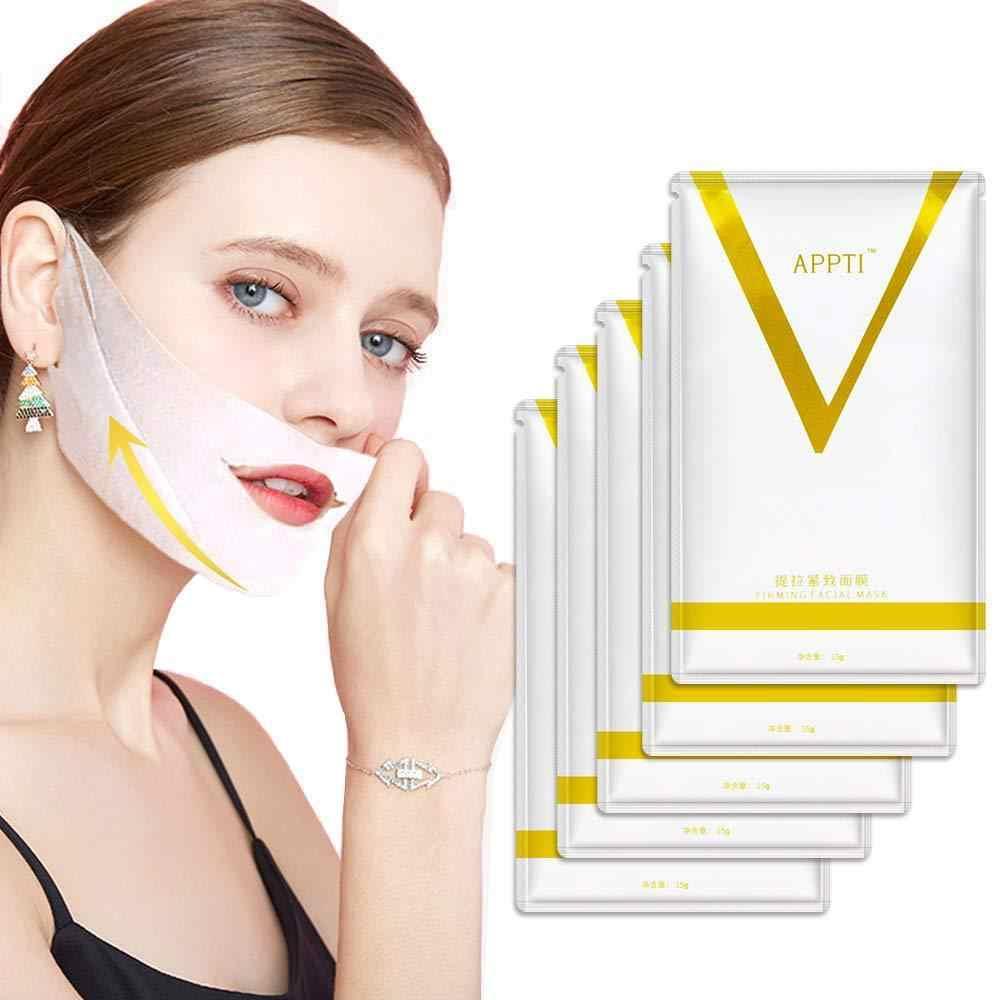Appti 4D Double V Bentuk Wajah Ketegangan Firming Masker Kertas Pelangsing Menghilangkan Edema Lifting Firming Tipis Masseter Wajah Alat Perawatan