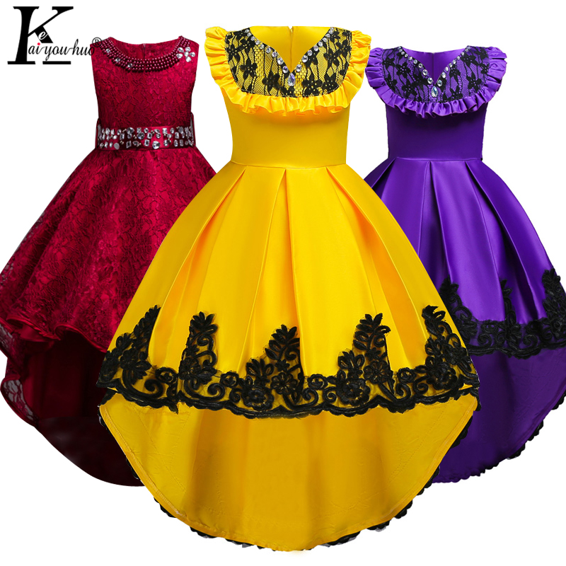 Kids Dresses For Girls Wedding Dress Elegant 2018 Sleeveless Teenagers Tutu Dress Summer Girls Clothes Children Vestidos Costume стоимость