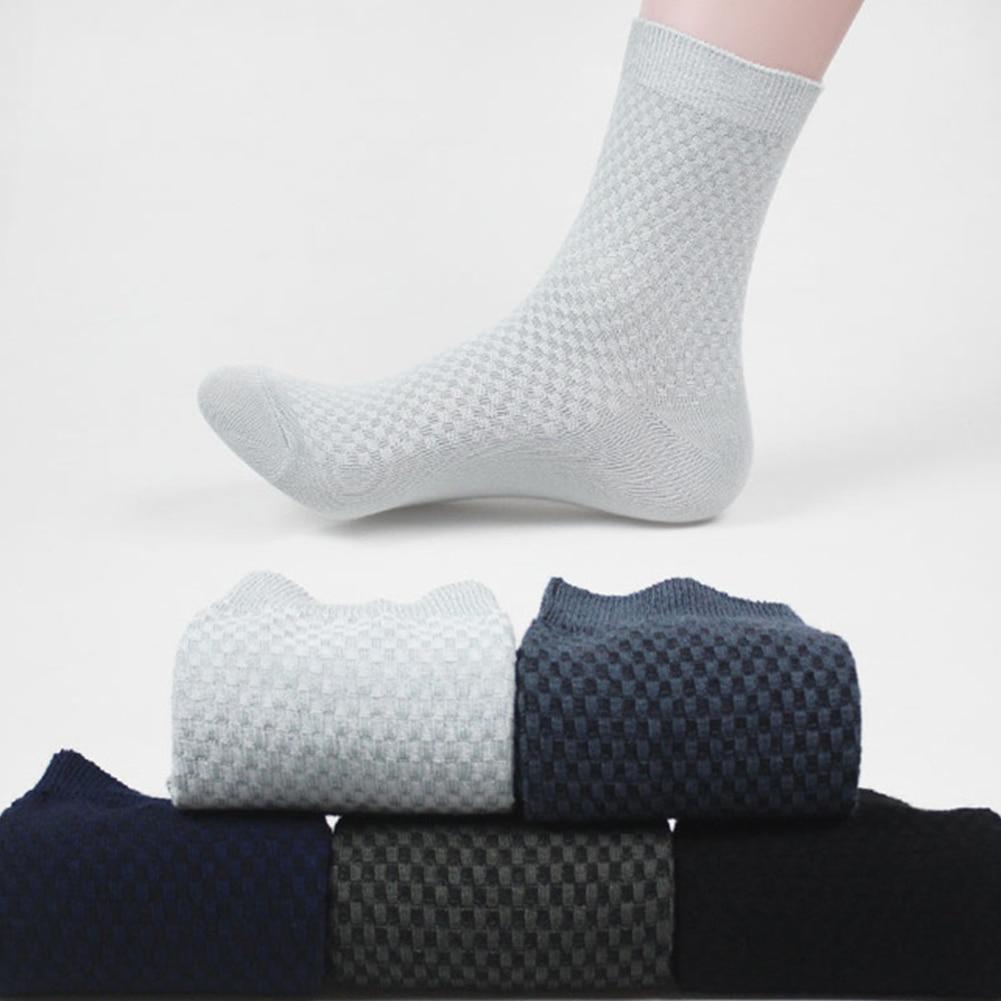 Stylish Mens Casual Bamboo Fiber Stockings Socks Business Toe Boot Cotton Socks