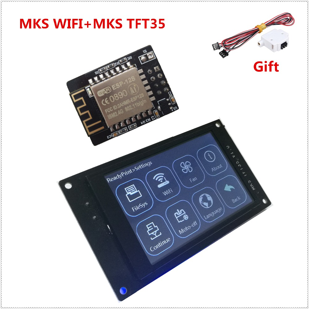 3d printer display MKS TFT35 V1.0 touch screen + MKS WIFI module remote control 3.5 inch LCD panel 3.5'' TFT colorful displayer 3d printing wireless router hlk rm04 wifi module mks hlkwifi v1 1 remote control for mks tft touch screen high stability
