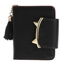 2017 mode tofsar stil söta Kvinnor Kort plånbok med metall Hasp Lock kvinnlig Byte Pärla Multi Card Holder Tjejer Clutch MS MS