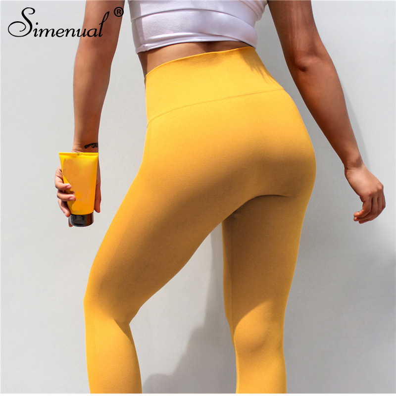 Simenual Polyamide sportswear   leggings   fitness women pants high waist push up jeggings harajuku slim sexy bodybuilding   legging