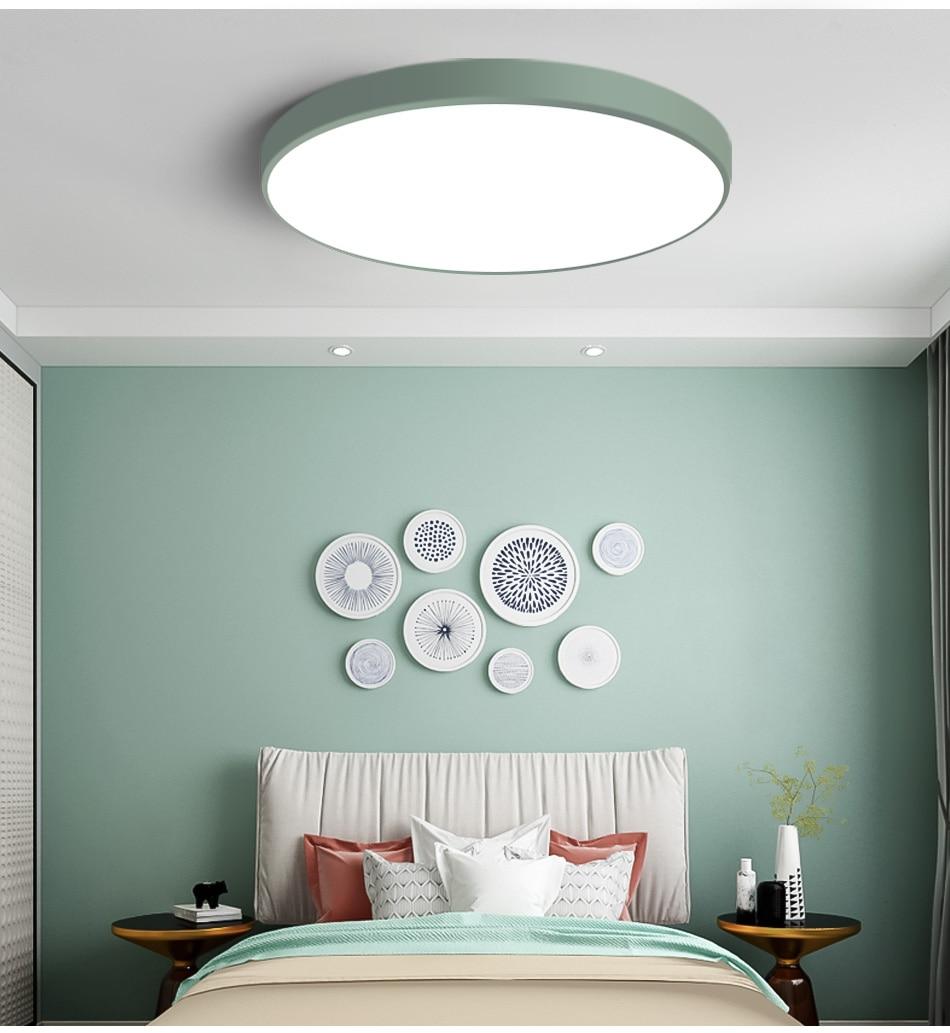 HTB1sgOkaJfvK1RjSspfq6zzXFXa2 LED Ceiling Light Modern Lamp Living Room Lighting Fixture Bedroom Kitchen Surface Mount Flush Panel Remote Control