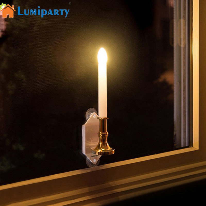 Lumiparty 2pcs Solar Powered Led Candle Lamp Indoor