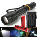 5000LM Cree xml t6Flashlight Powerful Zoomable Waterproof Led Torch Rechargeable Lanterna Camping Flash Light Lumens for Hunting