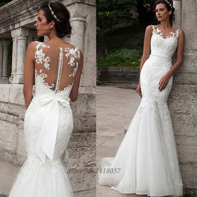 Vestido novia encaje civil