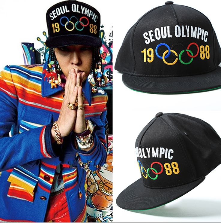 2017 new kpop BIGBANG hat MADE TOUR with the same section of the Olympic rings GD baseball cap hip-hop hip-hop sun hat 2017 bigbang 10th anniversary in japan made tour tae yang g dragon ins peaceminusone bone red baseball cap hiphop pet snapback