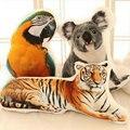 Envío de la gota guepardo peluches 3 D Impresión de la Jirafa Animales almohada cojín cebra inclinarse Creativo Panda animales Juguetes de Peluche