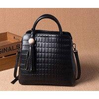 Famous Designer Handbags High Quality Cowhide Leather Handbag Women Shoulder Bag Genuine Leather Black Female Crossbody